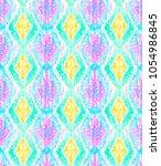 mosaic rhombus ethnic colorful...   Shutterstock .eps vector #1054986845