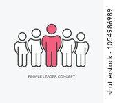 sketch of working little people ... | Shutterstock .eps vector #1054986989