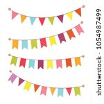 set of decorative party... | Shutterstock .eps vector #1054987499
