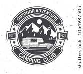 camping club. vector... | Shutterstock .eps vector #1054987505