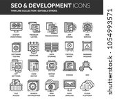 seo and app development. search ... | Shutterstock .eps vector #1054993571