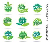 ecology icon set | Shutterstock .eps vector #1054993727