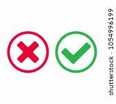 check mark icon signs vector... | Shutterstock .eps vector #1054996199