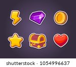 ui vector icon kit for a games. ...