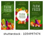 farm fresh leaflet templates... | Shutterstock .eps vector #1054997474