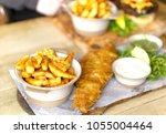 traditional british pub  ... | Shutterstock . vector #1055004464