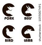monochrome labels of farm... | Shutterstock .eps vector #1055007491