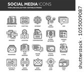 communication. social media.... | Shutterstock .eps vector #1055009087
