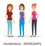 group of women avatars...   Shutterstock .eps vector #1055016491