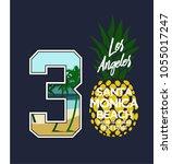 surf pineapple illustration ...   Shutterstock .eps vector #1055017247