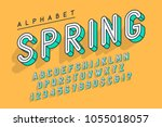 condensed display font popart... | Shutterstock .eps vector #1055018057