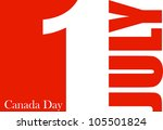 canada day vector background | Shutterstock .eps vector #105501824