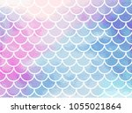 pink blue mermaid scales.... | Shutterstock .eps vector #1055021864