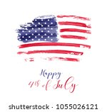 usa independence day background.... | Shutterstock .eps vector #1055026121