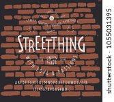 font streetthing. craft retro...