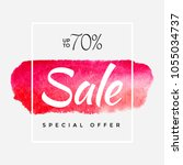 watercolor special offer  super ... | Shutterstock .eps vector #1055034737