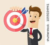 businessman pointing to the big ...   Shutterstock .eps vector #1055034941