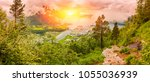 panorama of andalsnes city ... | Shutterstock . vector #1055036939