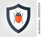 computer virus attention sign... | Shutterstock .eps vector #1055037314