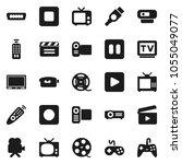 flat vector icon set   cinema... | Shutterstock .eps vector #1055049077