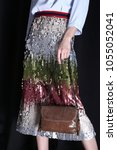 fashion brown leather handbag   Shutterstock . vector #1055052041