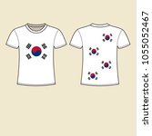 t shirt design south korean flag | Shutterstock .eps vector #1055052467