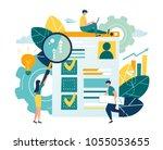 flat vector illustration  web... | Shutterstock .eps vector #1055053655