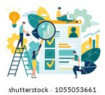 flat vector illustration  web... | Shutterstock .eps vector #1055053661