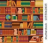 seamless books vector... | Shutterstock .eps vector #1055062835