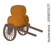 handcart transportation with... | Shutterstock .eps vector #1055072177