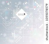 vector circuit board... | Shutterstock .eps vector #1055078579