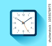 clock icon in flat style with... | Shutterstock .eps vector #1055078975