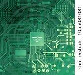 vector circuit board... | Shutterstock .eps vector #1055081081