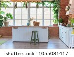 Kitchen In Loft Style With Big...