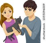 illustration of a teenage boy... | Shutterstock .eps vector #1055096009