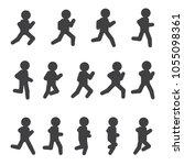 running vector sequence.... | Shutterstock .eps vector #1055098361