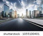 urban traffic in hongkong | Shutterstock . vector #1055100401