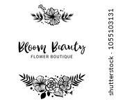 flower boutique logo template.... | Shutterstock .eps vector #1055103131
