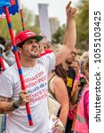 Small photo of PHOENIX, AZ / USA - MARCH 24, 2018: Vann Gutier, a nationally known gun advocate and agitator, was one of the more vocal gun advocate agitators at the March for Our Lives event in Phoenix.