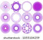 set spirographic elements for... | Shutterstock .eps vector #1055104259