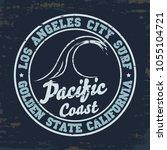 surfing t shirt graphic design. ... | Shutterstock .eps vector #1055104721