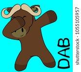 dab dabbing pose oxen kid... | Shutterstock .eps vector #1055105957