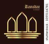 ramadan kareem illustration... | Shutterstock .eps vector #1055116781