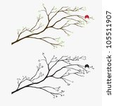 tree bird wall decal | Shutterstock .eps vector #105511907