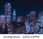 new york nights | Shutterstock . vector #1055119994