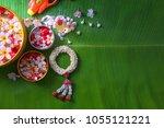 thai traditional jasmine... | Shutterstock . vector #1055121221