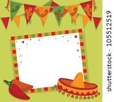 mexican party card with... | Shutterstock .eps vector #105512519
