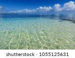 ripple transparent ocean water... | Shutterstock . vector #1055125631