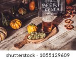 craft beer flight  halloween... | Shutterstock . vector #1055129609