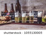 american craft beer | Shutterstock . vector #1055130005